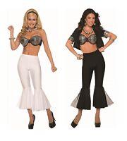Adult 70s Disco Fever Boogie Crop Bell Bottom Pants Costume