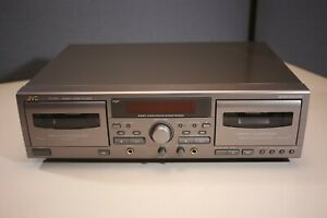 JVC TD-W317 Dual Cassette Deck Player Recorder *No Remote* Tested Free Shipping!