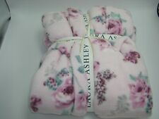 Laura Ashley Plush Bathrobe Pink Floral Robe Women's Size X-Large
