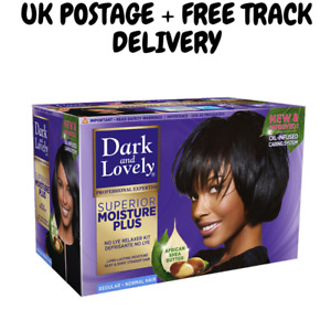 DARK AND LOVELY NO LYE HAIR RELAXER - REGULAR + UK POSTAGE + FREE TRACK DELIVERY