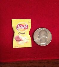 """1:6 scale Handmade miniature for 11""""-12"""" size dolls - Classic Potato Chips bag"""
