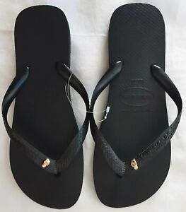 Havaianas Black Golden Skull - Mens and Womens Sizes