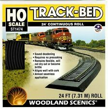 Woodland Scenics ~ New 2020 ~ HO Scale 24 Foot Continuous Roll Track-Bed ST1474