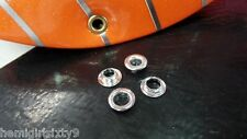 """2 New 1/4"""" Silver Rat Rod Muscle Bike Bicycle Banana Seat Grommets"""