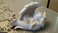 Sleeping Winged Angel Cupid Decor Cherub Statue Baby Sculpture Figurine