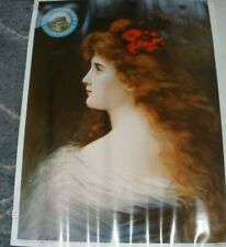 Coors Golden Brewery 1904 Greeting Victorian Lady Poster