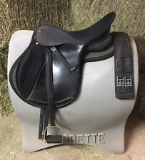 """Wintec 17.5"""" Wide All Purpose Saddle with Stirrups, Leathers, Pad and Girth. EUC"""