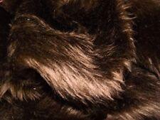 Plain Fun Faux Fur Fabric Material DK BROWN MALT