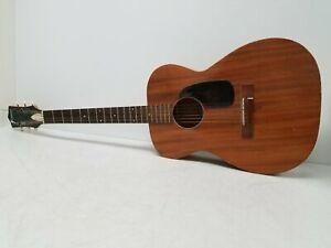 Vintage Harmony Natural Acoustic Guitar
