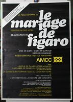 Affiche Originale ✤ Le Mariage de Figaro ✤ Chambéry ✤ 1975