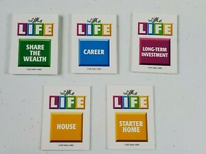 MB The Game of Life 2007 Replacement Game Pieces Parts Card Deck Complete 54