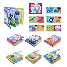 6 Set Baby Kids Soft Cloth Cognize 10 Pages Sound Book Early Educational Toy