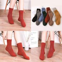 Ladies Wool Cashmere Thick Winter Warm Soft Solid Casual Socks Christmas SALE