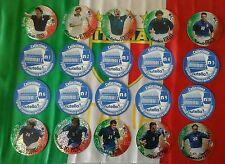 Azzurro Mondiale 2002 set completo extrasticker N1~N10 GLITTER RARE ROSSI, TOTTI