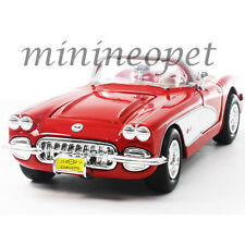 MOTORMAX 73216 1959 59 CHEVY CORVETTE CONVERTIBLE 1/24 DIECAST RED