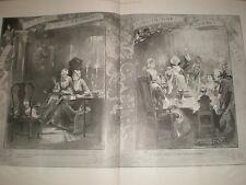 Bague le vieux Anneau dans le nouveau Walter Wilson 1898 Grand OLD PRINT