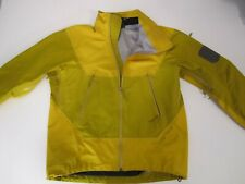 ARC'TERYX GoreTex Jacket Yellow No Hood Unisex S Small Made in CANADA