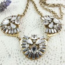Pre-loved J.CREW Statement NECKLACE - Gold tone metal, Clear Rhinestones
