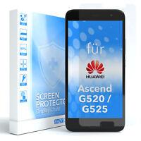 1x SCHUTZGLAS PANZER DISPLAYFOLIE ECHT GLAS 9H FÜR Huawei Ascend G520 / G525