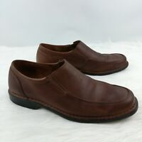 Rockport Adiprene Mens Distressed Leather Brown Loafers Slip On Shoes 10M