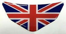 Union Jack Red, White & Blue Chevron Car - Motorcycle Sticker GLOSS DOMED GEL