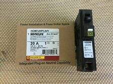 Lot of 5Pcs Square D Hom120Pcafi Single Pole 20 Amp Arc Fault Breakers