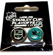 Los Angeles Kings San Jose Sharks NHL Lapel Hat Shirt Pin Collector Souvenir 13'
