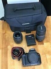 Canon EOS Rebel T6 DS126621 18-55mm and 75-300mm Lenses Battery/Charger and Bag