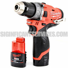 Milwaukee 2504-20 M12 12V FUEL Brushless 1/2 In. Hammer Drill 2.0 Ah Batteries