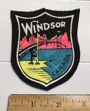 Windsor Canada Ambassador Bridge Souvenir Felt Patch Badge