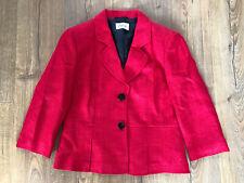 Cute Red Wool Blend Jacket Blazer 3/4 Sleeves Precis 12