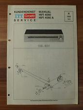 HIFI4060A HIFI 4060 A ITT Graetz Service Kundendienst Service Manual
