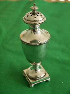 SUPERB IMPRESSIVE UNUSUAL ANTIQUE SILVER PLATED POUNCE POT MUFFINEER SHAKER