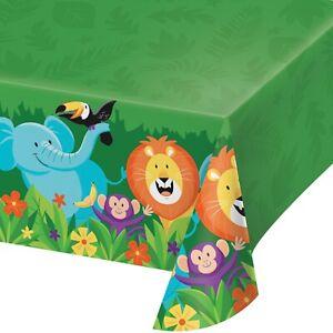 Jungle Safari Plastic Party Table Cover Table Cloth All Over Print