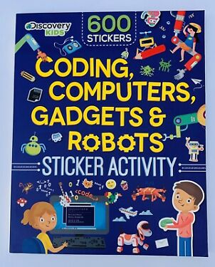 Coding Computers Gadgets Robots Sticker Activity Kids 59 STEM Fun Educational