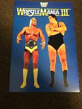 WWF WWE Wrestlemania 3 III 1987 Promo Poster Hulk Hogan Andre The Giant 12x18