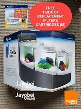 New listing Betta Falls Kit Aqueon Black Fish Aquarium Tank (Waterfall Curve Design)