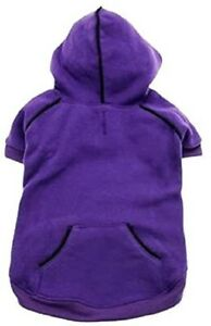 DOG FLEECE LINED HOODIE HEAVYWEIGHT SWEATSHIRT Purple 3XL Sale