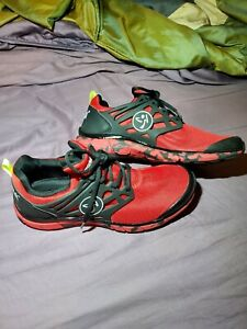 Zumba Women's Fly Fusion Red Athletic Dance Workout Sneakers Shoes 9.5 A1F00090