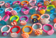☆ 20 x kids rings ☆ children's jewellery wholesale party bag fillers joblot