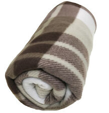 Soft Warm Tartan Check Fleece Throw Sofa Home Bed Travel Car Blanket 125 x 150cm