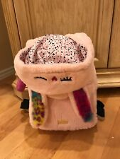New LUV Betsey Johnson Pink Furry BUNNY BACKPACK HOODIE