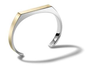 *BRAND NEW* Bulova Men's Open Cuff Two Tone Stainless Steel Bracelet J98B003S