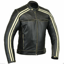Australian Bikers Gear The Boonie Motorcycle CE Armoure Cowhide Leather Jacket