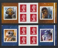 GREAT BRITAIN 2017 STARWARS SELF ADHESIVE PAIR OF BOOKLETS  UNMOUNTED MINT, MNH