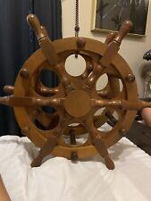 Vintage Ship Wheel wine rack
