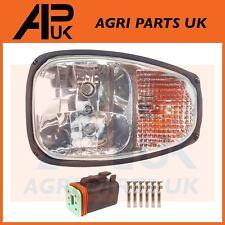 JCB 2CX 3CX 4CX Backhoe Parts LH Front Headlight Headlamp Head Light Lamp & Plug