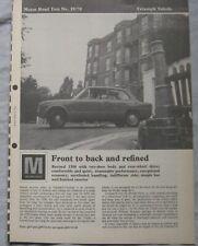 1970 Triumph Toledo Original Motor magazine Road test