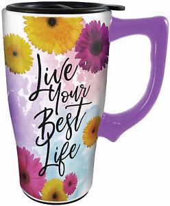 SPOONTIQUES 12828 LIVE YOUR BEST LIFE TRAVEL MUG