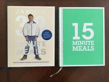 """TWO Jamie Oliver books: """"30 Minute Meals"""" + """"15 Minute Meals"""" + FREE POST!"""